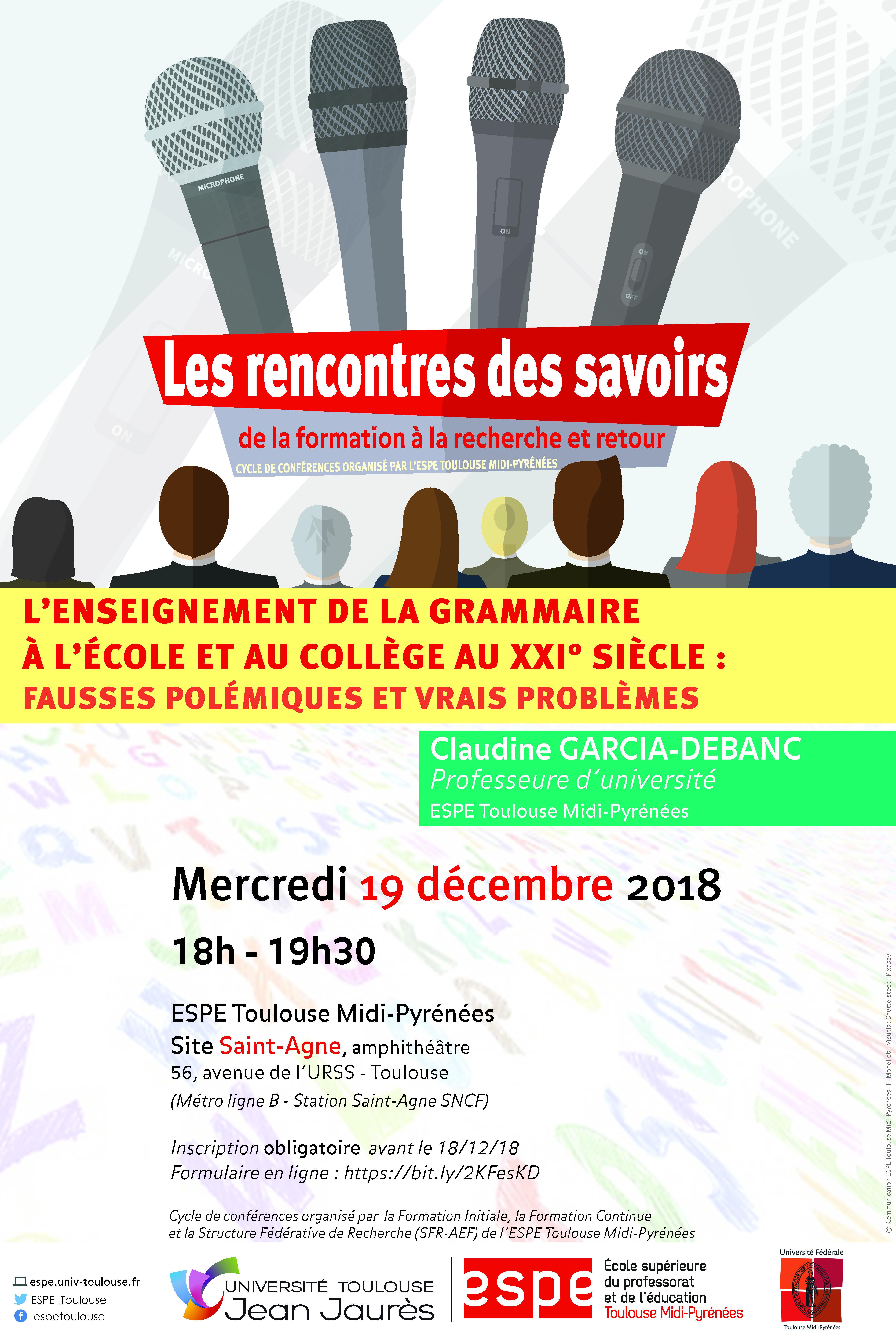 conférence rencontres des savoirs 19dec2018