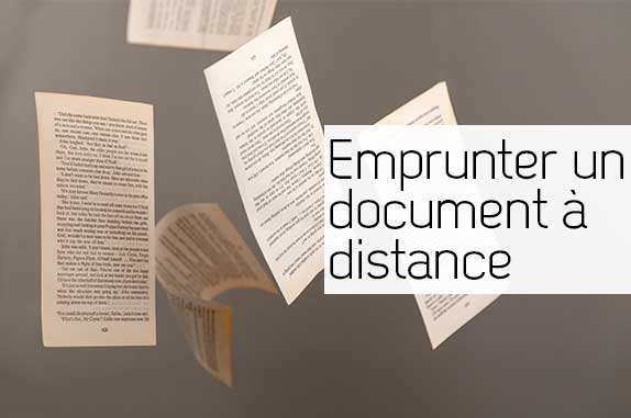 Emprunter un document à distance