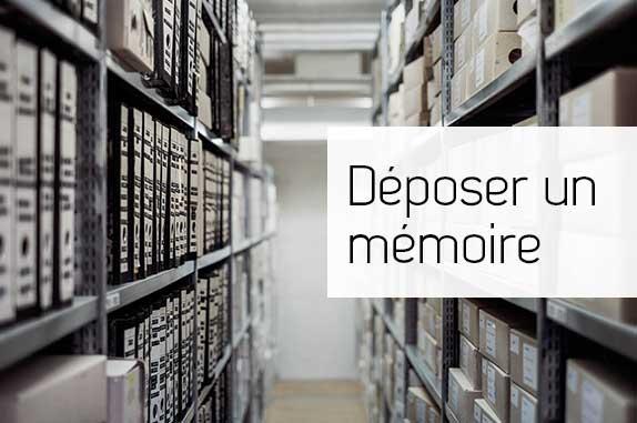 Déposer un mémoire