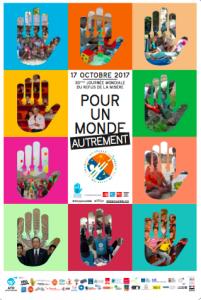 affiche de la journée mondiale du refus de la misère