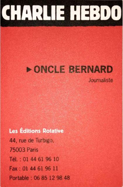 Carte de visite de Bernard Maris