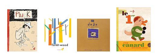Pages de couverture de Jojo la mache, Forêt-wood, Le premier c'est Canard et Plupk