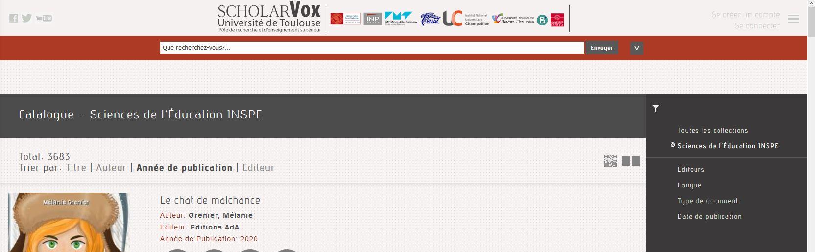 capture écran cyberlibris