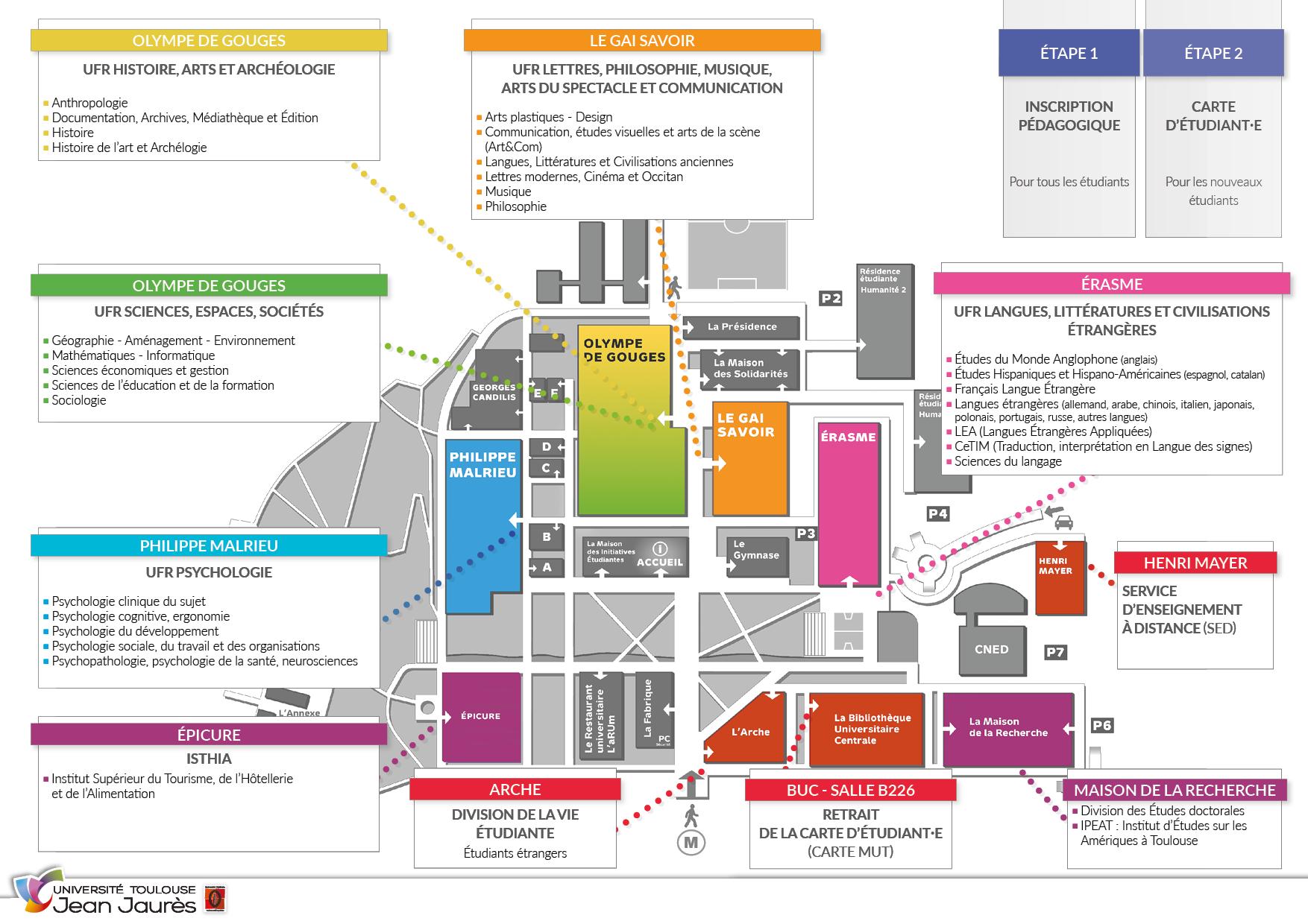 Plan des lieux d'inscription