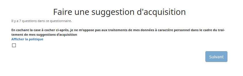 premiere page questionnaire